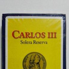Barajas de cartas: NAIPES FOURNIER, PUBLICIDAD - CARLOS III, BRANDY DE JEREZ. Lote 156837274