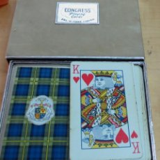 Barajas de cartas: BARAJA PÓKER CONGRESS PLAYING CARDS EN CAJA COMPLETA. Lote 157188454