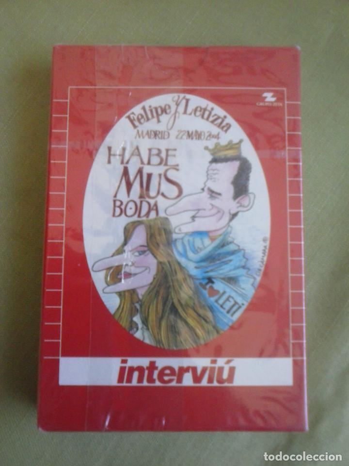 BARAJA INTERVIU FELIPE Y LETICIA HABEMUS BODA. NUEVA Y PRECINTADA. (Juguetes y Juegos - Cartas y Naipes - Otras Barajas)