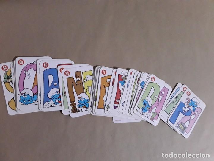 Barajas de cartas: Baraja de cartas,el juego de las pitufo letras,ediciones recreativas,1983 - Foto 4 - 157276866