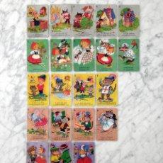 Barajas de cartas: BARAJA DE CARTAS INFANTIL - 7 CUENTOS INFANTILES - HERACLIO FOURNIER (INCOMPLETA). Lote 157384342