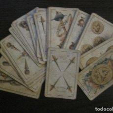 Barajas de cartas: BARAJA DE CARTAS ANTIGUA-LUIS A.LLEDO-VILLAGARCIA PONTEVEDRA-COMPLETA 40 CARTAS-VER FOTOS-(V-16.209). Lote 157423502