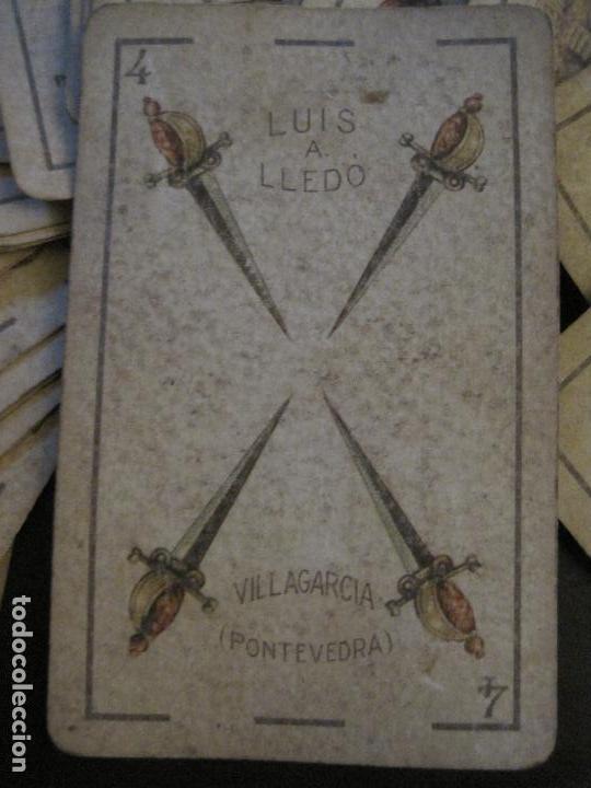 Barajas de cartas: BARAJA DE CARTAS ANTIGUA-LUIS A.LLEDO-VILLAGARCIA PONTEVEDRA-COMPLETA 40 CARTAS-VER FOTOS-(V-16.209) - Foto 3 - 157423502