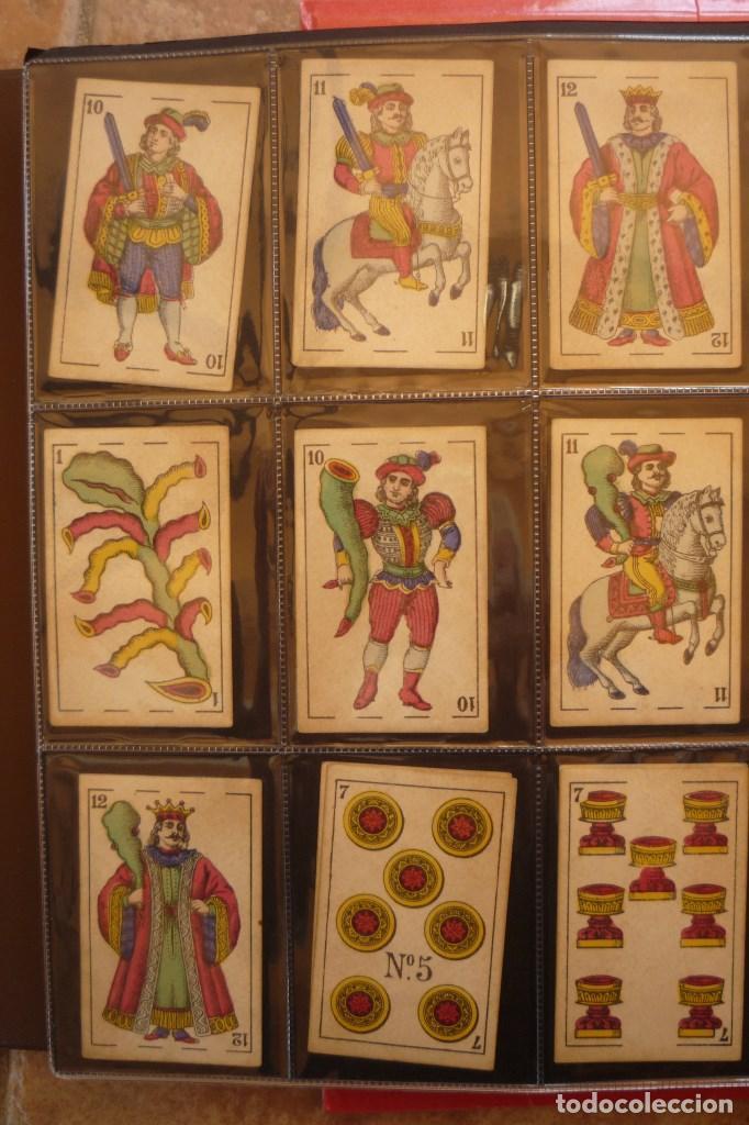 Barajas de cartas: BARAJA DEL AÑO 1902. MARCA EL HERALDO. FÁBRICA DE OLEA CÁDIZ. COMPLETA 40 CARTAS. NUEVA - Foto 2 - 157528894