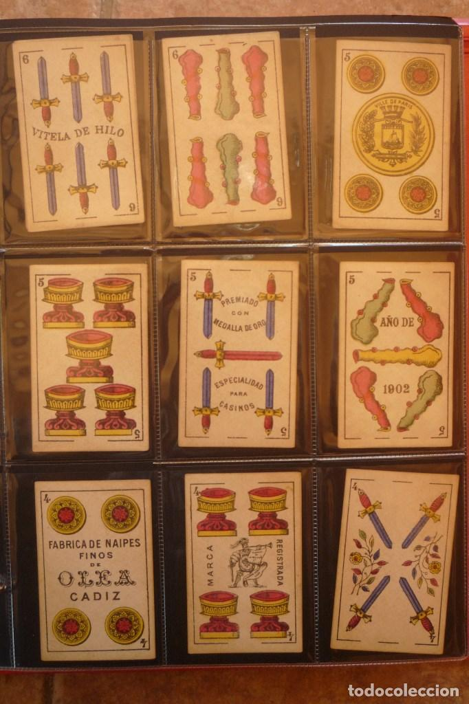 Barajas de cartas: BARAJA DEL AÑO 1902. MARCA EL HERALDO. FÁBRICA DE OLEA CÁDIZ. COMPLETA 40 CARTAS. NUEVA - Foto 3 - 157528894