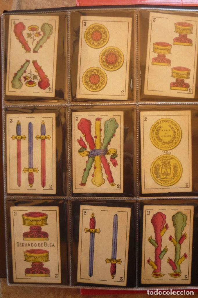 Barajas de cartas: BARAJA DEL AÑO 1902. MARCA EL HERALDO. FÁBRICA DE OLEA CÁDIZ. COMPLETA 40 CARTAS. NUEVA - Foto 4 - 157528894
