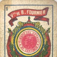 Barajas de cartas: NAIPE AÑOS 20. Lote 157703034