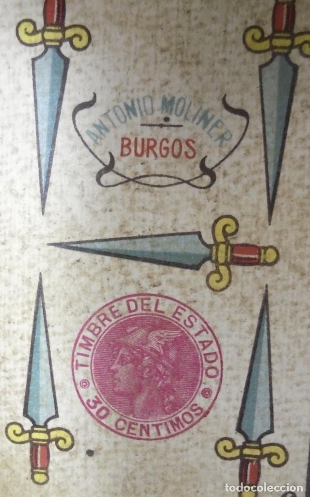 Barajas de cartas: BAAJA DE CARTAS. ESPAÑOLA. ANTONIO MOLINER. BURGOS. FALTA SOTA DE OROS. VER - Foto 15 - 157708782