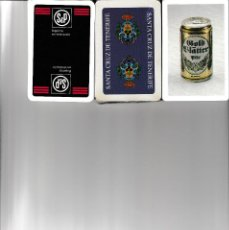 Barajas de cartas: 3 BARAJAS ESPAÑOLAS DE S & P + CERVEZA GOLD BLATTER + TENERIFE. Lote 157780554