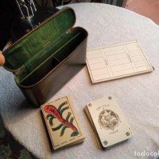 Barajas de cartas: ESTUCHE ANTIGUO DE BARAJAS. (A. CAMOIN A CIE MARSEILLE. FRANCIA. Y DE POKER. B.P. GRIMAUD. PARÍS.) . Lote 158376210
