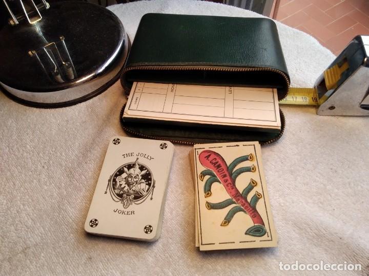 Barajas de cartas: Estuche antiguo de barajas. (A. CAMOIN a Cie MARSEILLE. FRANCIA. Y DE POKER. B.P. GRIMAUD. PARÍS.) - Foto 2 - 158376210