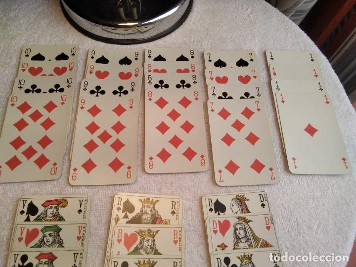 Barajas de cartas: Estuche antiguo de barajas. (A. CAMOIN a Cie MARSEILLE. FRANCIA. Y DE POKER. B.P. GRIMAUD. PARÍS.) - Foto 12 - 158376210