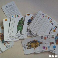 Barajas de cartas: JUEGO DE CARTAS DE LOS UNIFORMES MILITARES, DE GAEZ , 1970. Lote 222056797