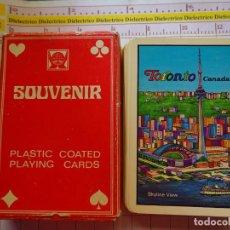 Barajas de cartas: ANTIGUA BARAJA DE CARTAS DE PÓKER. TORONTO CANADÁ. 70 GR. Lote 159151774