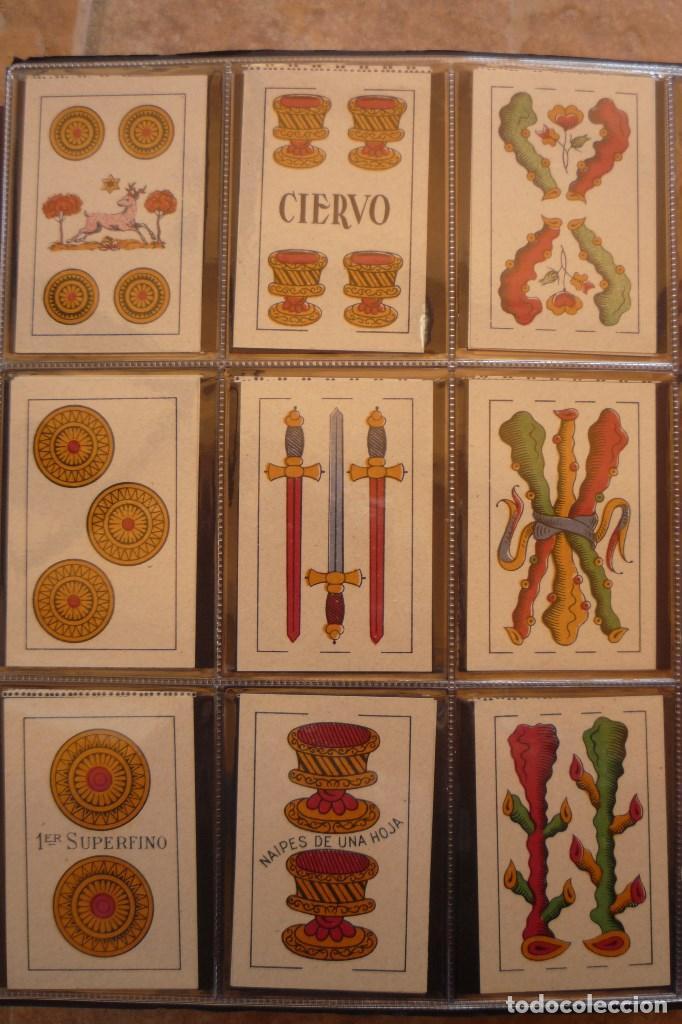 Barajas de cartas: BARAJA AÑO 1951 MARCA CIERVO DE HIJA DE A. COMAS. 40 CARTAS. NUEVA. ESQUINAS RECTAS. - Foto 4 - 159157590