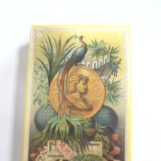 Barajas de cartas: ANTIGUA BARAJA DE CARTAS. PRECINTADA. BARAJA PUJADAS. ESPAÑA. SIGLO XIX. VER. Lote 159195090