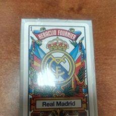 Barajas de cartas: BARAJA ORIGINAL HERACLIO FOURNIER REAL MADRID FUTBOL NUEVA PRECINTADA 50 CARTAS. Lote 159238634