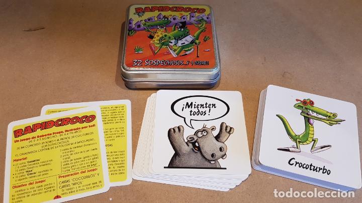 RAPID CROCO / 32 SOSPECHOSOS Y 1 CULPABLE / A FALTA DE UNA CARTA. / NUEVO. (Juguetes y Juegos - Cartas y Naipes - Otras Barajas)