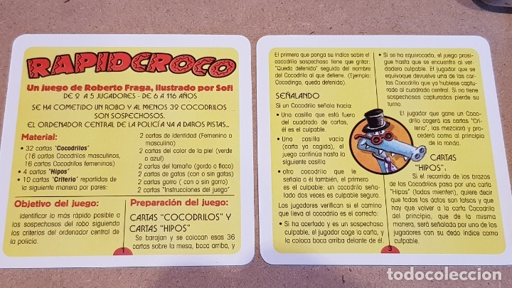 Barajas de cartas: RAPID CROCO / 32 SOSPECHOSOS Y 1 CULPABLE / A FALTA DE UNA CARTA. / NUEVO. - Foto 4 - 159485766