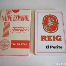 Barajas de cartas: BARAJA CARTAS HERACLIO FOURNIER: REIG, EL PURITO. - 40 NAIPES - NUEVA SIN USO . Lote 159603070