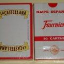 Barajas de cartas: BARAJA DE CARTAS ESPAÑOLA. FOURNIER. ANIS LA CASTELLANA. PRECINTADA. 110 GR. Lote 159684282
