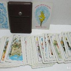 Barajas de cartas: ANTIGUA BARAJA FALLERA 48 CARTAS FALLAS OLIMPIADA INTERNACIONAL DEL HUMOR,FALLA MERCAT DEL GRAU 1975. Lote 245466585