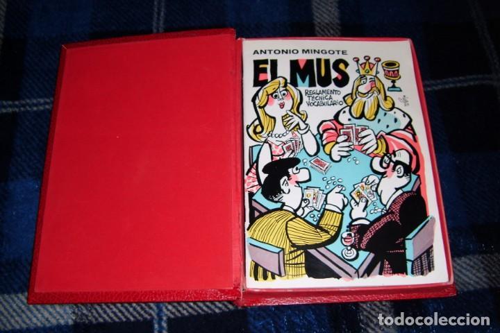 JUEGO DE MUS Y LIBRO DE REGLAS MINGOTE ANTIGUO JUEGO DE MUS (Juguetes y Juegos - Cartas y Naipes - Otras Barajas)