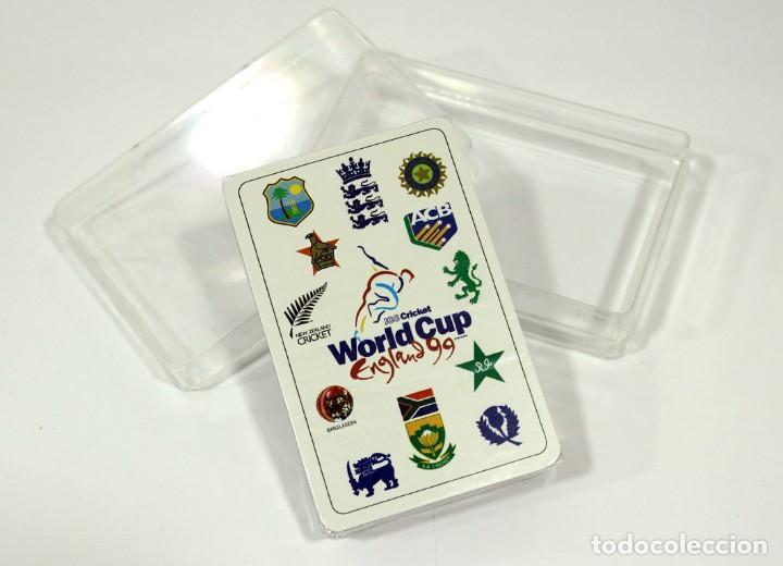 BARAJA WORLD CUP CRICKET ENGLAND 1999 (Juguetes y Juegos - Cartas y Naipes - Otras Barajas)