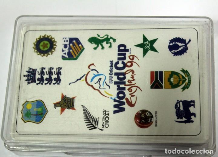 Barajas de cartas: Baraja WORLD CUP CRICKET ENGLAND 1999 - Foto 4 - 160226938