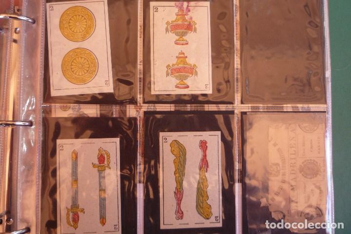Barajas de cartas: BARAJA 'LA MADRILEÑA' DE G. ESTRADA, MADRID. AÑO 1870. 40 NAIPES TAMAÑO 7,3X4,7 CM. - Foto 5 - 160277022