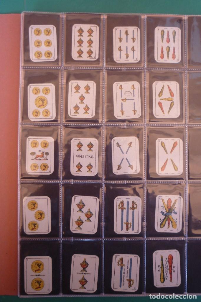 Barajas de cartas: NAIPES COMAS, BARCELONA. AÑO 1954. 40 CARTAS MINIATURA. CAT. COMAS PAGINA 47H. REVERSO EN ROJO - Foto 2 - 160281498