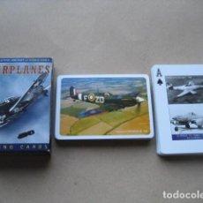 Barajas de cartas: BARAJA POKER. AVIONES SEGUNDA GUERRA MUNDIAL. WARPLANES. Lote 160285486