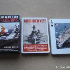Jeux de cartes: BARAJA POKER. BARCOS SEGUNDA GUERRA MUNDIAL. BATTLESHIPS. Lote 160285730