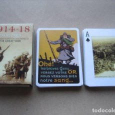 Barajas de cartas: BARAJA POKER. PRIMERA GUERRA MUNDIAL. THE GREAT WAR 1914 - 1918. Lote 160285926