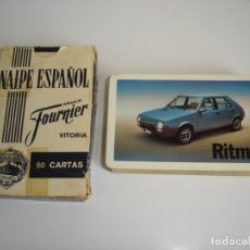 Barajas de cartas: BARAJA CARTAS, HERACLIO FOURNIER - SEAT RITMO. 50 NAIPES.. Lote 160513170