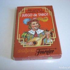 Barajas de cartas: BARAJA CARTAS JUEGO DE TAROT, NAIPES FOURNIER: ARCANOS Y CABALLOS - 26 NAIPES. - NUEVA. Lote 160517358