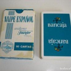 Barajas de cartas: BARAJA CARTAS HERACLIO FOURNIER: BANCAJA - 50 NAIPES - NUEVA SIN USO. Lote 160518930