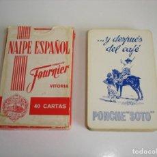 Barajas de cartas: BARAJA CARTAS, HERACLIO FOURNIER - PONCHE SOTO. 40 NAIPES.. Lote 160519514