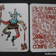 Baralhos de cartas: JOKER Nº110. BANCO DE LONDRES. MINGOTE. Lote 160521262