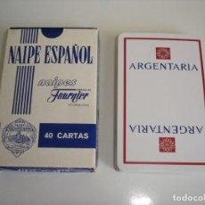 Barajas de cartas: BARAJA CARTAS HERACLIO FOURNIER: ARGENTARIA - 40 NAIPES - NUEVA SIN USO. Lote 160521770