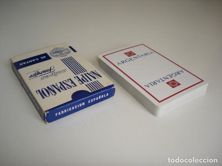 Barajas de cartas: BARAJA CARTAS HERACLIO FOURNIER: ARGENTARIA - 40 NAIPES - NUEVA SIN USO - Foto 3 - 160521770