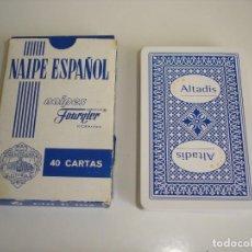 Barajas de cartas: BARAJA CARTAS HERACLIO FOURNIER: ALTADIS - 40 NAIPES - NUEVA SIN USO. Lote 160522070