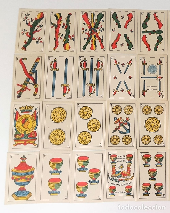 Barajas de cartas: BARAJA DE 48 NAIPES. LA HISPANO AMERICANA. JOAN ROURA. BARCELONA. CIRCA 1930. - Foto 2 - 161119094