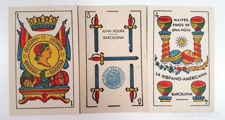 Barajas de cartas: BARAJA DE 48 NAIPES. LA HISPANO AMERICANA. JOAN ROURA. BARCELONA. CIRCA 1930. - Foto 5 - 161119094