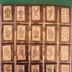 Barajas de cartas: COLECCIÓN NAIPES 'LA BARAJA', EN 48 FUNDAS PARA HOJAS DE AFEITAR. COMPLETA. NUEVA.. Lote 161537058