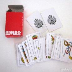 Barajas de cartas: MINIBARAJA BARAJA CARTAS ESPAÑOLAS NAIPES BIMBO COMPLETA 48 CARTAS + 2 COMODINES + ESTUCHE. Lote 161631034