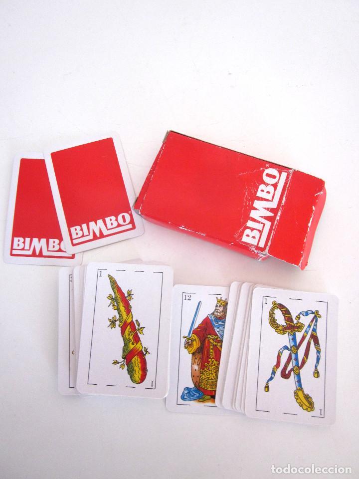 Barajas de cartas: Minibaraja Baraja Cartas Españolas Naipes Bimbo completa 48 cartas + 2 comodines + estuche - Foto 4 - 161631034