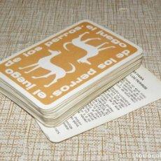 Barajas de cartas: BARAJA CARTAS, NAIPES, EDICIONES RECREATIVAS 1975, EL JUEGO DE LOS PERROS. Lote 161701570