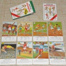 Barajas de cartas: NAIPES BARAJA OLIMPICA ,HERACLIO FOURNIER , COMPLETA ,33 CARTAS CON INSTRUCCIONES 1988.. Lote 161712790