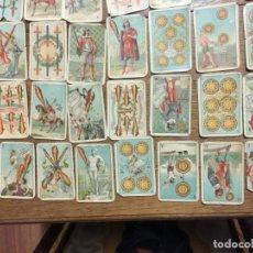 Barajas de cartas: BARAJA PUBLICIDAD PAPEL FUMAR DE ALQUITRÁN NORUEGO JOSÉ BARDOU.S.XIX. INCOMPLETA 40 CARTAS. Lote 161825394